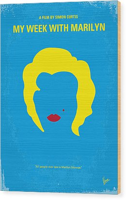 No284 My Week With Marilyn Minimal Movie Poster Wood Print