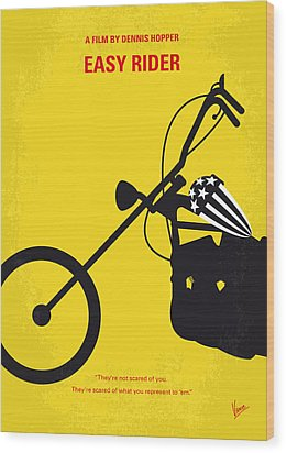 No333 My Easy Rider Minimal Movie Poster Wood Print