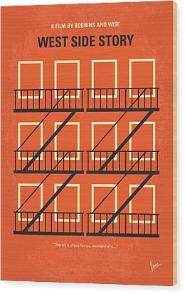 No387 My West Side Story Minimal Movie Poster Wood Print by Chungkong Art