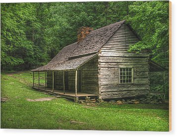Noah Ogle Cabin Wood Print by Cindy Haggerty