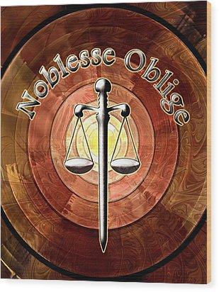 Noblesse Oblige Wood Print by Anastasiya Malakhova