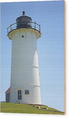 Wood Print featuring the photograph Nobska Point Lighthouse Ma by Suzanne Powers