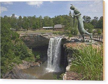Noccalula Falls In Gadsden Wood Print by Carol M Highsmith