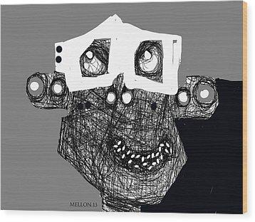 Noctis No. 4 Wood Print by Mark M  Mellon
