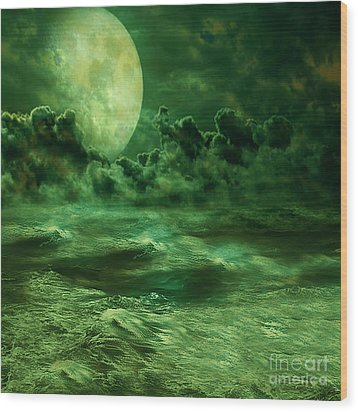 Nocturnal Wood Print by Ester  Rogers