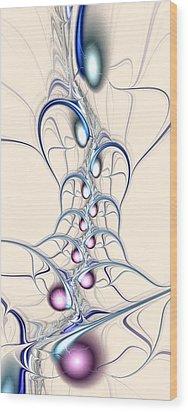 Nodes Wood Print by Anastasiya Malakhova