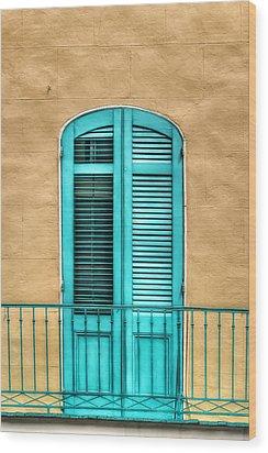 Nola Balcony Wood Print by Brenda Bryant