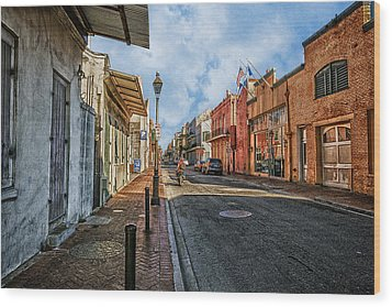 Nola French Quarter Wood Print by Sennie Pierson
