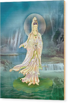 Wood Print featuring the photograph Non-dual Kuan Yin by Lanjee Chee