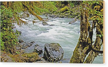 Nooksack River Rapids Washington State Wood Print by A Gurmankin