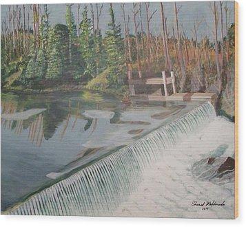 Nora Mill Waterfall Wood Print