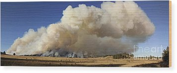 Norbeck Prescribed Fire Smoke Column Wood Print