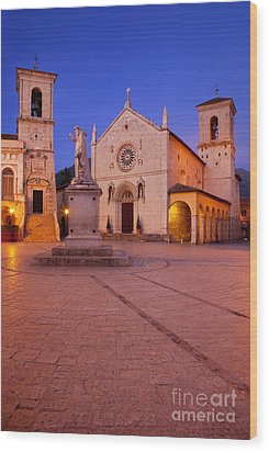 Norcia Umbria Wood Print by Brian Jannsen