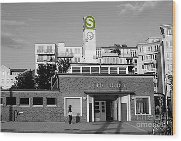Wood Print featuring the photograph Nordbahnhof Station In Berlin by Art Photography