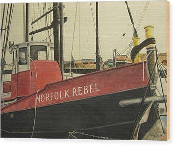 Norfolk Rebel Wood Print