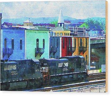 Norfolk Southern 8324 And 8676 Locomotives Wood Print by Susan Savad