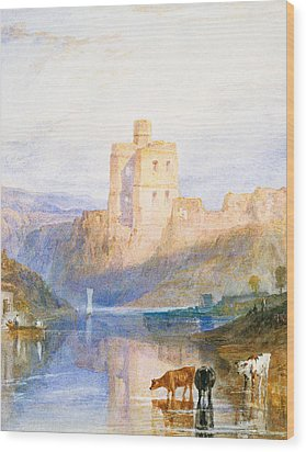 Norham Castle An Illustration To Marmion By Sir Walter Scott Wood Print by Joseph Mallord William Turner