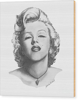 Norma Jeane Wood Print by Marianne NANA Betts