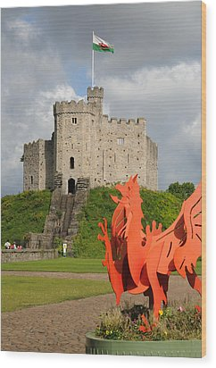 Norman Keep Cardiff Castle Wood Print