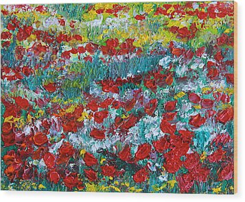 Normandy Poppy Field Dreams IIi Wood Print