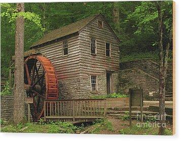 Rice Grist Mill Wood Print