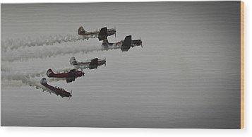Norteast Raiders At The Greenwood Lake Airshow 2012 Wood Print