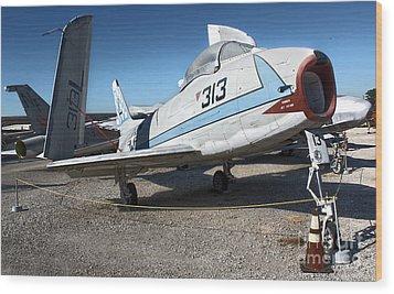 North American Fury Fj-3 Wood Print by Gregory Dyer