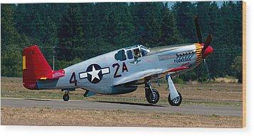 North American P-51 Mustang Wood Print by Chris McKenna
