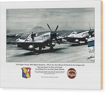North American P-51d Mustang Wood Print by Kenneth De Tore