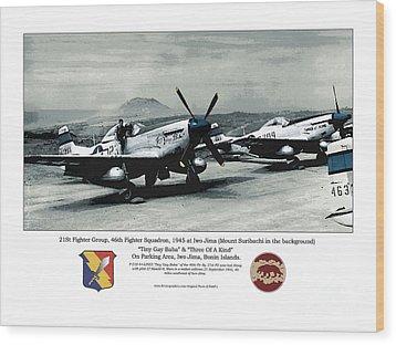 North American P-51d Mustang Wood Print