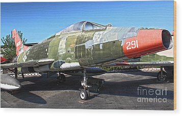 North American Super Sabre Qf-100d Wood Print by Gregory Dyer