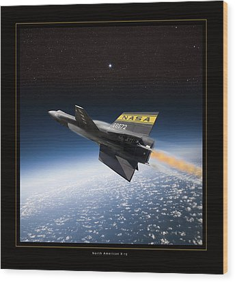 North American X-15 Wood Print by Larry McManus