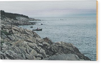North Atlantic Wood Print by Christy Usilton