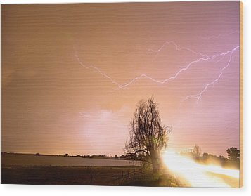 North Boulder County Colorado Lightning Strike Wood Print by James BO  Insogna