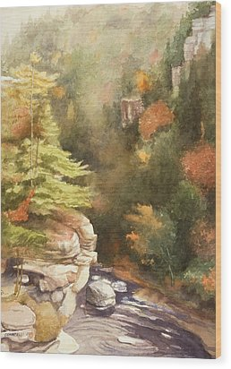 North Carolina Autumn Majesty Wood Print