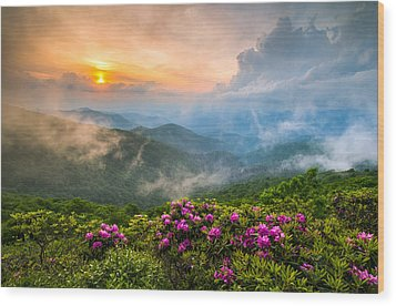 North Carolina Blue Ridge Parkway Spring Appalachian Mountains Nc Wood Print