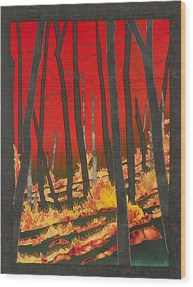 North Carolina Forests Under Fire II Wood Print