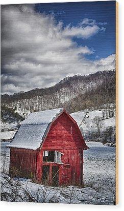 North Carolina Red Barn Wood Print