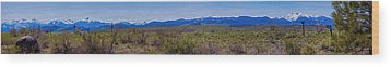 North Cascades Game Range Panorama Wood Print by Omaste Witkowski