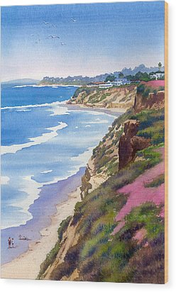 North County Coastline Revisited Wood Print by Mary Helmreich