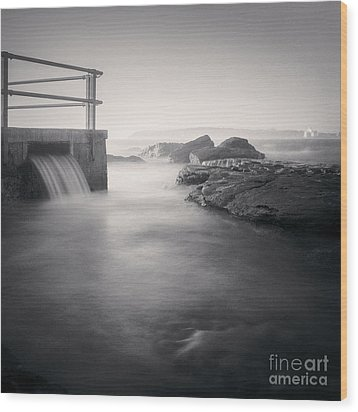 North Curl Curl Rockpool Sydney Wood Print by Colin and Linda McKie