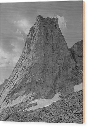 109649-bw-north Face Pingora Peak, Wind Rivers Wood Print