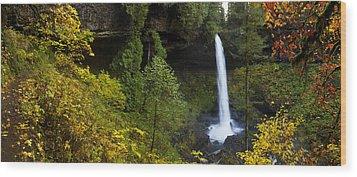 North Falls Panorama Wood Print