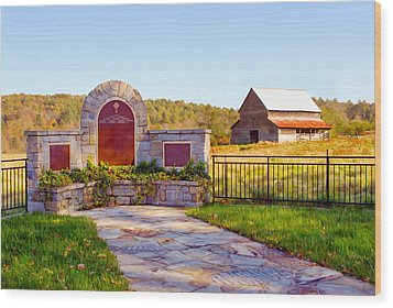 Wood Print featuring the photograph Landscape Barn North Georgia by Vizual Studio