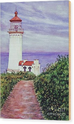 North Head Light House On The Washington Coast Wood Print