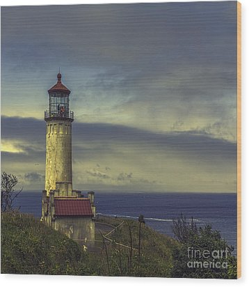 North Head Lighthouse Wood Print by Jean OKeeffe Macro Abundance Art