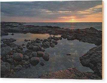 Big Island - North Kona Beach Wood Print by Francesco Emanuele Carucci