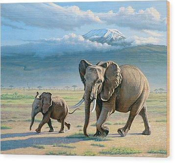 North Of Kilimanjaro  Wood Print by Paul Krapf