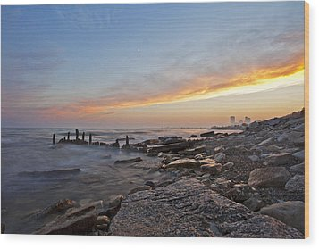 North Point Sunset Wood Print