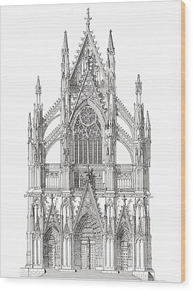 North Portal Cologne Cathedral Germany Wood Print by John Simlett